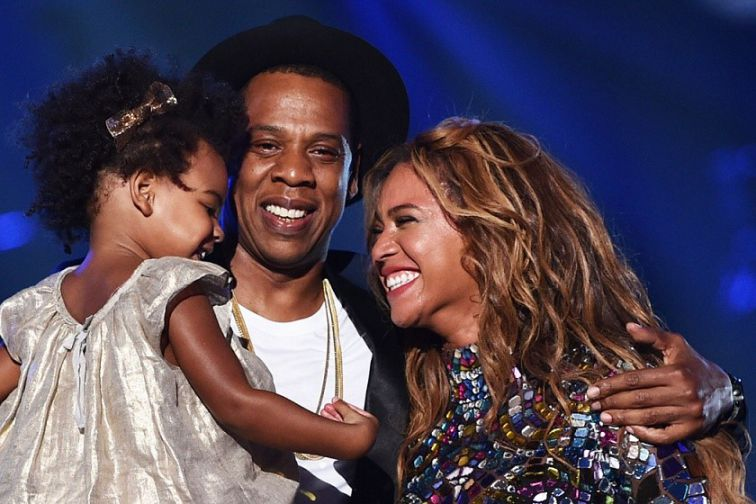 Beyonce With Jay Z and Daughter Blue-Ivy