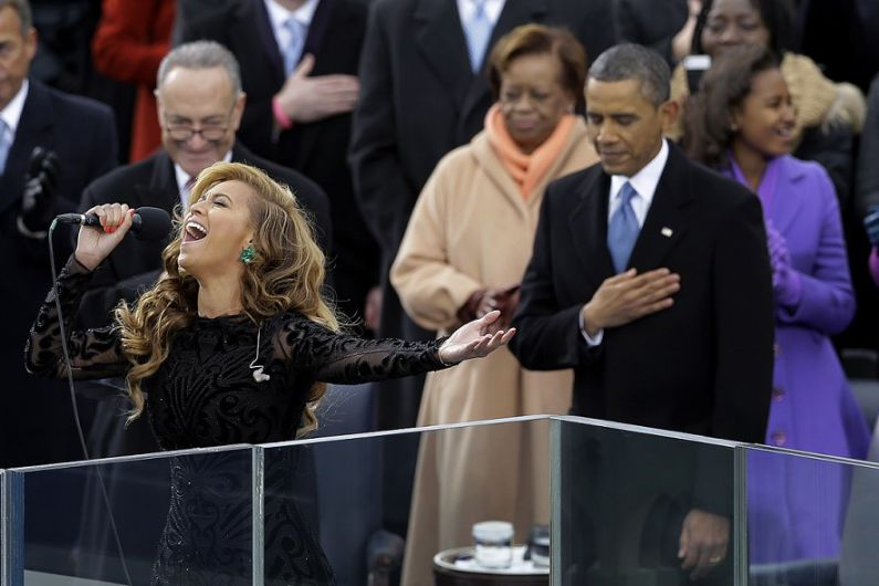 Beyonce Singing At President Obama's Inauguration