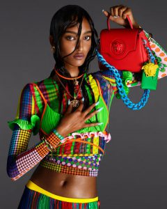 Woman Posing in Versace Spring Summer 2021 Campaign