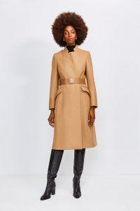 karen millen camel coat