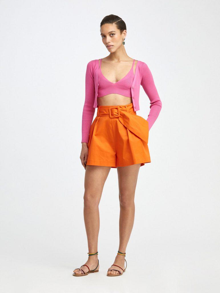Oscar de la renta cotton shorts