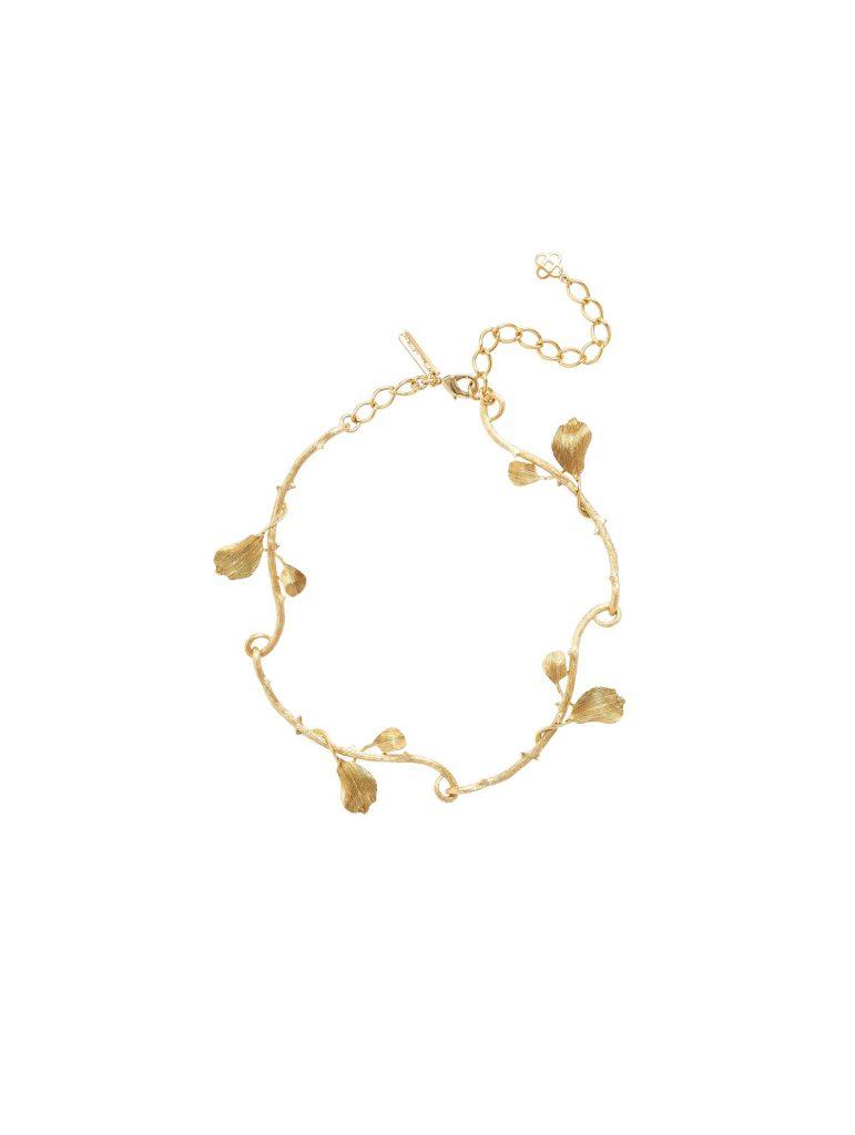 Oscar de la renta leaf necklace