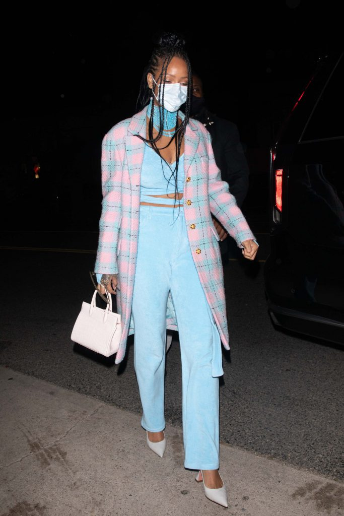 Rihanna in pastel terry coords