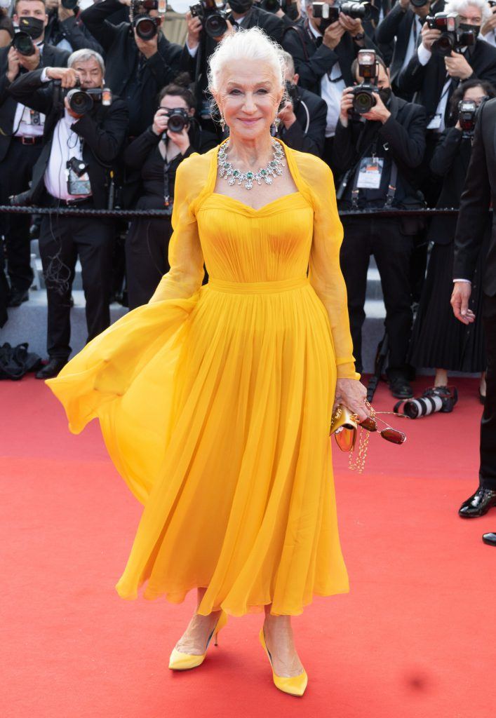 Helen Mirren at the 2021 Cannes Film Festival