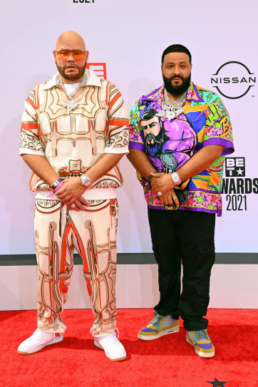 Fat Joe and DJ Khaled at the BET Awards 2021. Getty Images