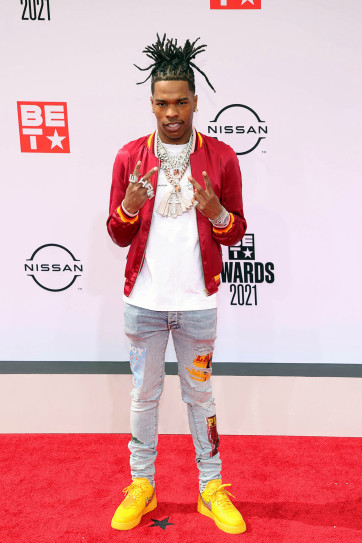 Lil Baby at the 2021 BEt Awards