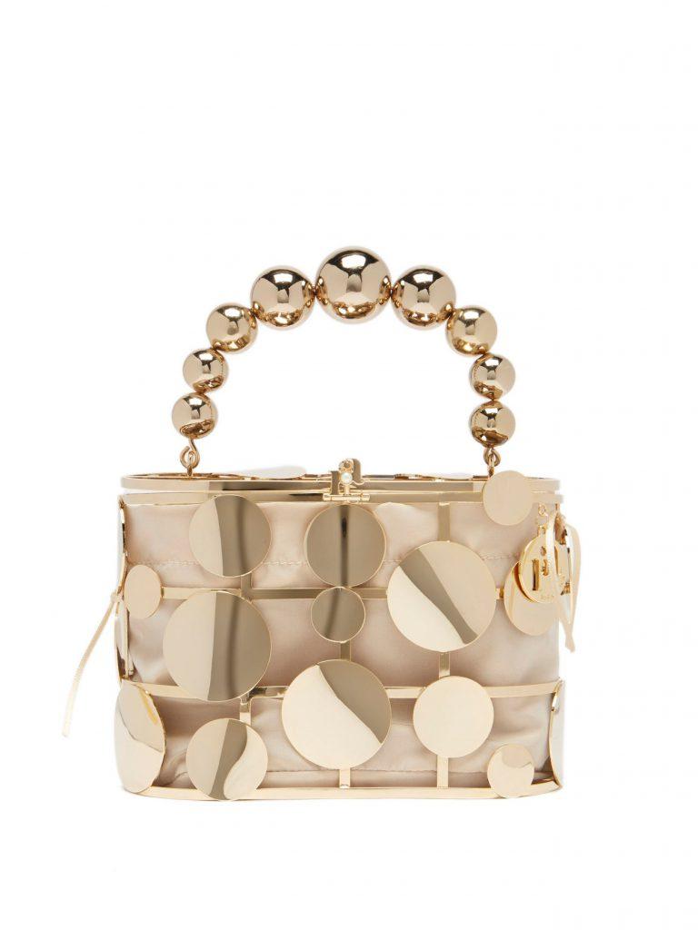 ROSANTICA Holli disc-embellished cage handbag £785