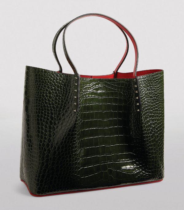 CHRISTIAN LOUBOUTIN Cabarock Large Croc-Embossed Leather Cabarock Tote Bag £1,340