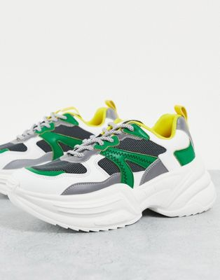 Topshop city chunky trainer in green current price £33.00£33.00