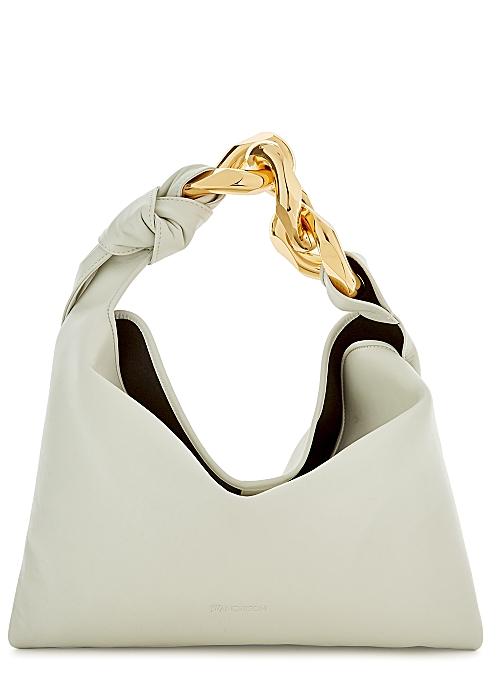 JW ANDERSON Small chain-embellished leather top handle bag £785.00