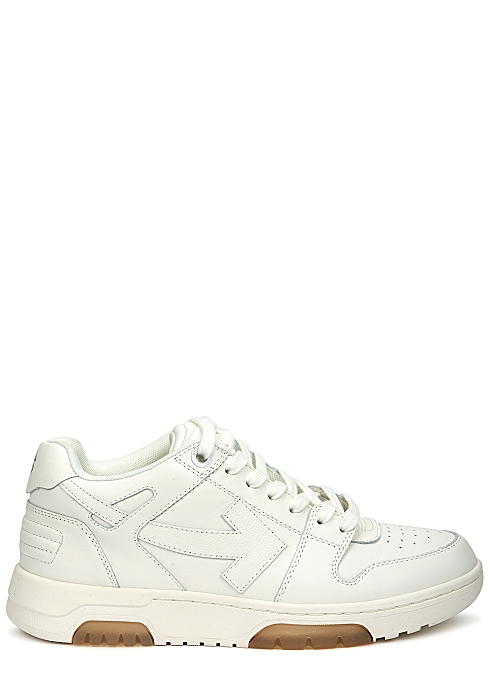 New Season OFF-WHITE Out of Office white leather sneakers £350.00
