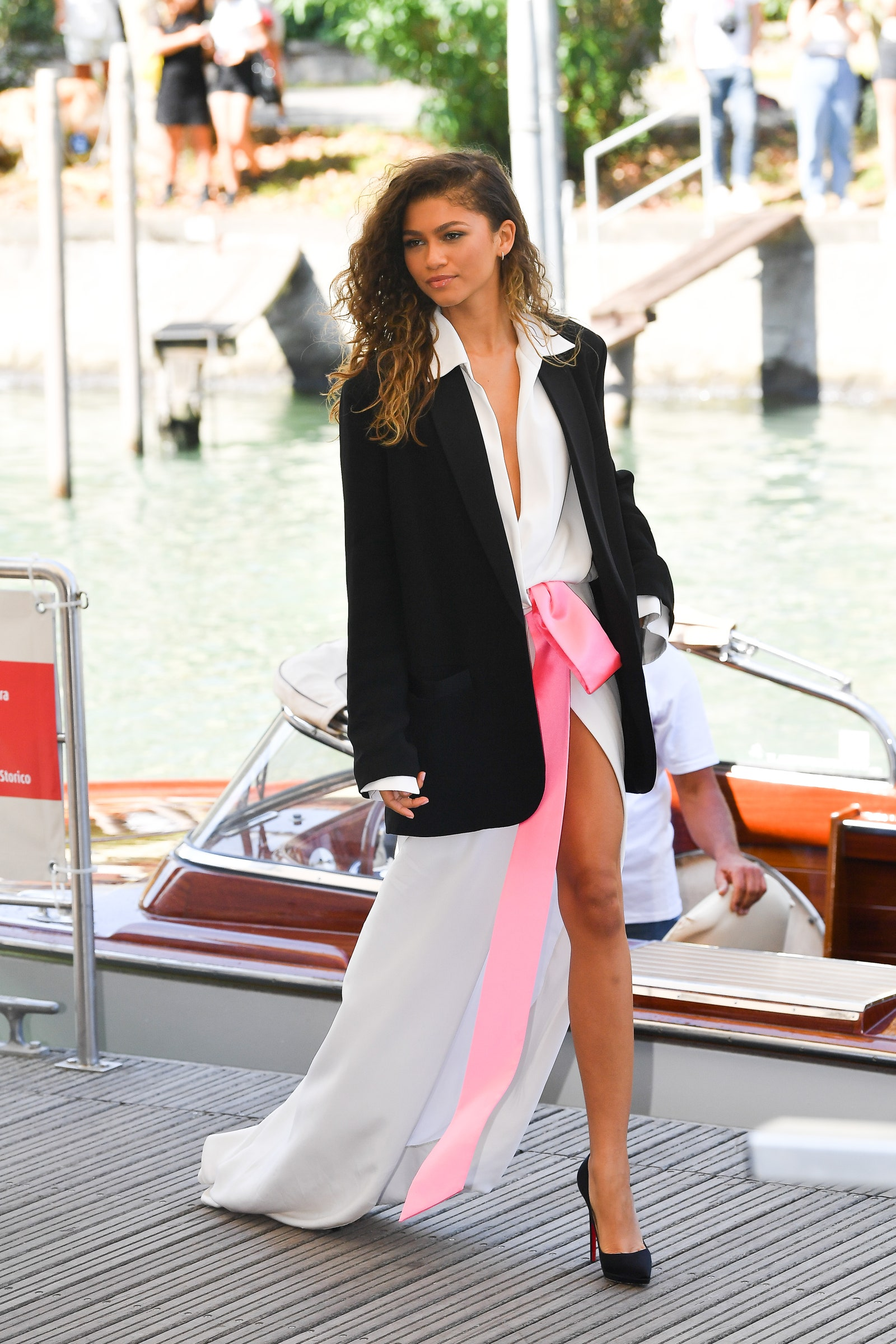 Zendaya's First appearance at the 2021 Venice Film Festival in Valentino couture.
