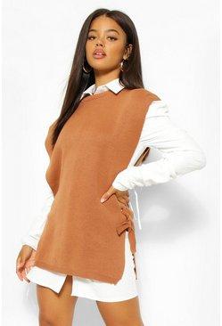 Lace Up Side Sweater Vest