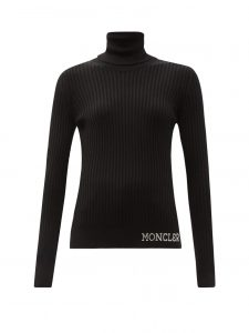 MONCLER Ciclista roll-neck ribbed wool top £355