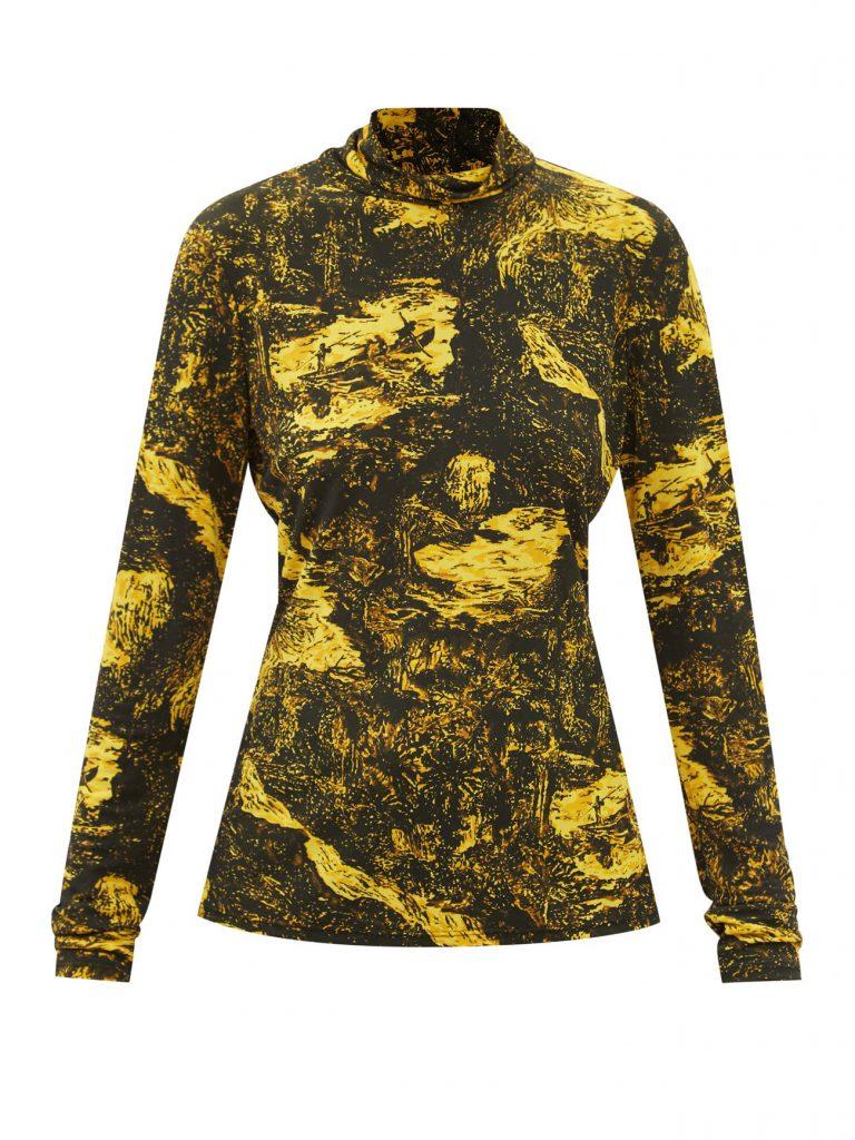 PROENZA SCHOULER Illustrative-print roll-neck jersey top £770