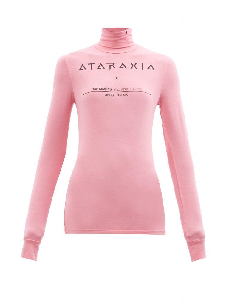 RAF SIMONS Ataraxia-print roll-neck jersey long-sleeved top £265