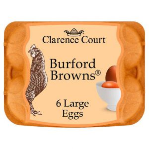 Clarence Court Burford Brown Large Free Range Eggs 6 per pack