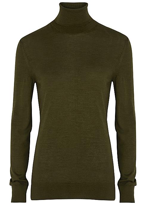THE ROW Demee green cashmere-blend jumper £1,140.00
